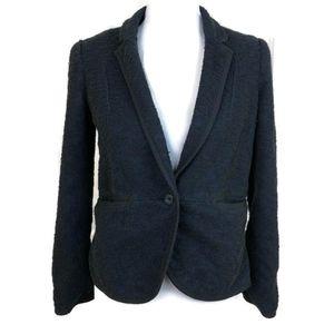 ANTHROPOLOGIE Cartonnier Women's Navy Blue Blazer